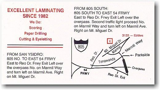 How to get to Eddie's Plastic Laminating Corp.